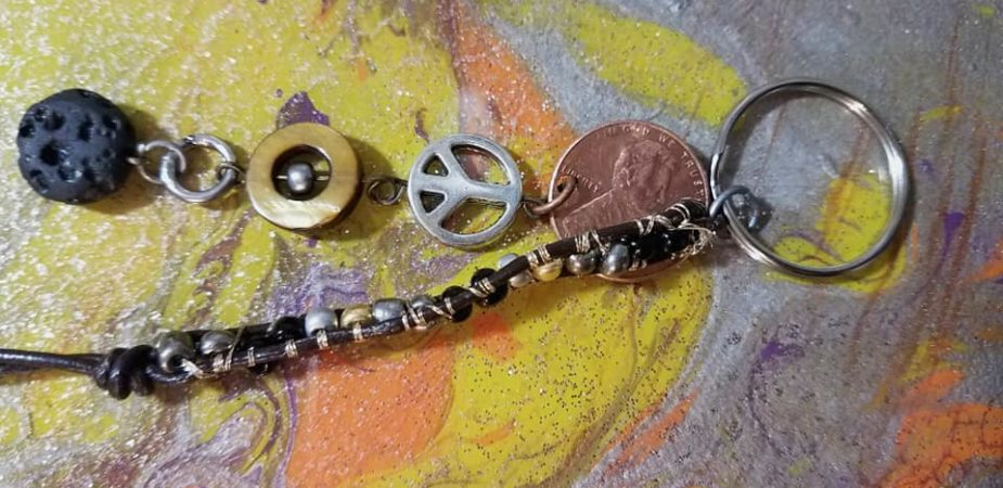 key chain, penny, custom art